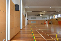 Panels Meet DET Guidelines for School Gym from SUPAWOOD