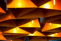 Bespoke Aluminium Ceiling Panels for Broadway by Di Emme