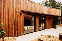 Spotted Gum Custom Cladding by TIMBECK Architectural