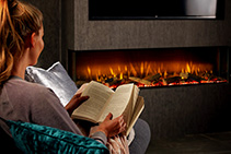 Vivente 1, 2, or 3-sided Fireplaces from Real Flame