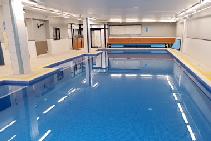 Indoor Pool Mosaic Tiles with LATICRETE