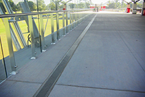 Stainless Steel Drainage Channels for Sports Fields from ACO