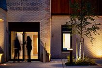 Modern Bollard Illumination for Historical School by WE-EF