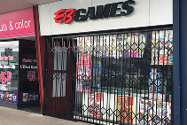 Expanding Security Shutters for EB Games from Trellis Door Co