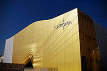 Striking Golden Facade with Royalan in Gold by KEIM