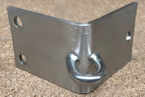 Custom-Made Shade Sail Corner Brackets from Miami Stainless