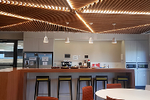 Dynamic Slat and Beam Acoustic Ceiling Design by SUPAWOOD
