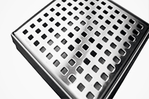 7mm Small Square Drain Grates from Vincent Buda & Co