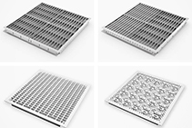 Airflow Floor Panels with Directional Flow from Tate