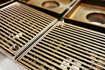 Brass Plated Stainless Steel Grates from Astor Metal Finishes