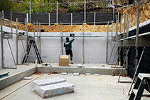 Class 4 Reinforced Concrete Walls and Insulation with ZEGO