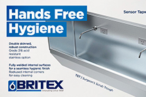 Hands-free Commercial Stainless Steel Tapware by BRITEX
