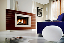 Modern Wood Burning Fireplace Design by Cheminees Chazelles