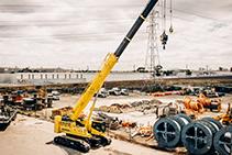 80T Hydraulic Crawler Crane Hire from Preston Hire