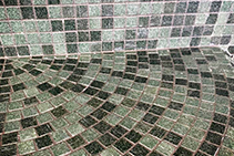 Bisazza Glass Mosaic Tiles Installed with LATICRETE