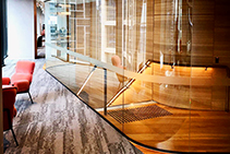 Glazed & Curved Glass Stairwells by Bent & Curved Glass