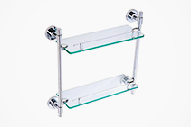 Double Glass Bathroom Shelf from Axess Trading