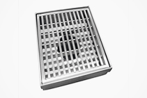 100mm Stainless-steel Square Outlets from Vincent Buda & Co