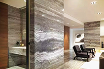 Titanium Italian Travertine Surfaces from RMS Marble