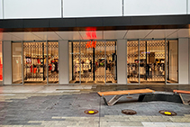 World Class Security Shutters for H&M from Trellis Door Co