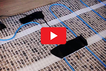 Underfloor Electric Heating Mat Install with dPP Hydronic Heating