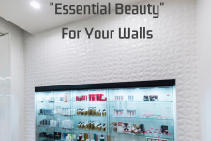 Visual Merchandising with Textured Panels by 3D Wall Panels