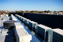 Rooftop Acoustic Walls to Prevent HVAC Noise Transfer from Pyrotek