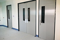 Specialised Clinical GRP Hygiene Doors from DMF International