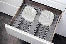 Tellerhalter Pull Out Plate Racks from Nover