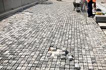 Cobblestone Streetscape for Westmead Sydney with LATICRETE