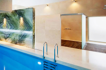 Crema Marfil Italian Marble Bathroom by RMS Marble