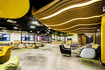 Interior Timber Ceiling Featuring WAVE BLADES by SUPAWOOD