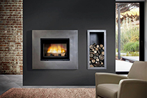 Wood Fireplaces for Large Homes from Cheminees Chazelles