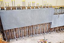 Multi-residential Basement Strip Drainage from Polyfabrics