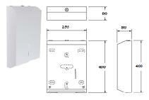 Interleaved Paper Towel Dispenser White from Star Washroom