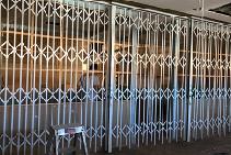 Triple Track Commercial Bifold Door System from Trellis Door Co
