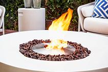 Circular Outdoor Fireplaces - Kove by Brown Jordan Fires
