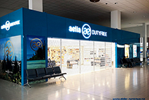 Folding Security Shutters for Airport Duty-Free from Trellis Door Co