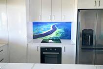 Custom Printed Splashbacks for White Kitchens by Innovative