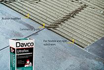 Rubber Modified Cement Adhesive - Ultraflex by Davco