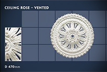 Vented Ceiling Roses - 08v from CHAD Group