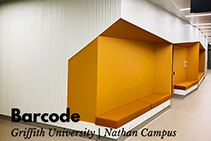 Barcode Textured Wall Design for Griffith University by 3D Wall Panels