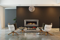 Efficient Indoor Gas Fireplaces - Escea by Chazelles