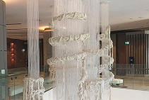 Fibre Optics for Sofitel Knitted Light Installation from Di Emme