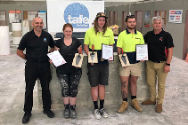 TAFE Queensland SkillsTech Apprentice Awards and LATICRETE