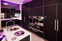 Contemporary Kitchen with Perspex Frost from Mitchell Group