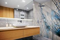 Designer High-Impact Bathroom Splashbacks from Nover