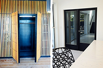 Custom Glass Entry Doors for Cool Rooms from TIGP