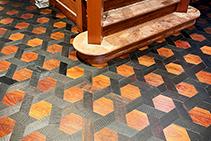 Geometric Mosaic Timber Flooring by Antique Floors