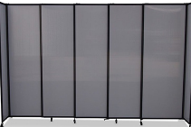 Freestanding Portable Privacy Screens from Portable Partitions